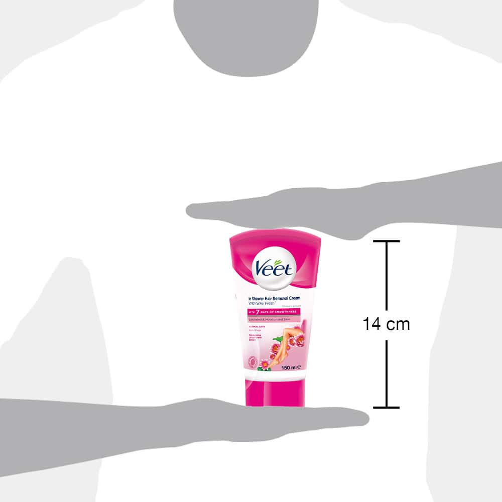 Veet In-shower Hair Removal Cream For Men & Women, Normal Skin - 150 Ml
