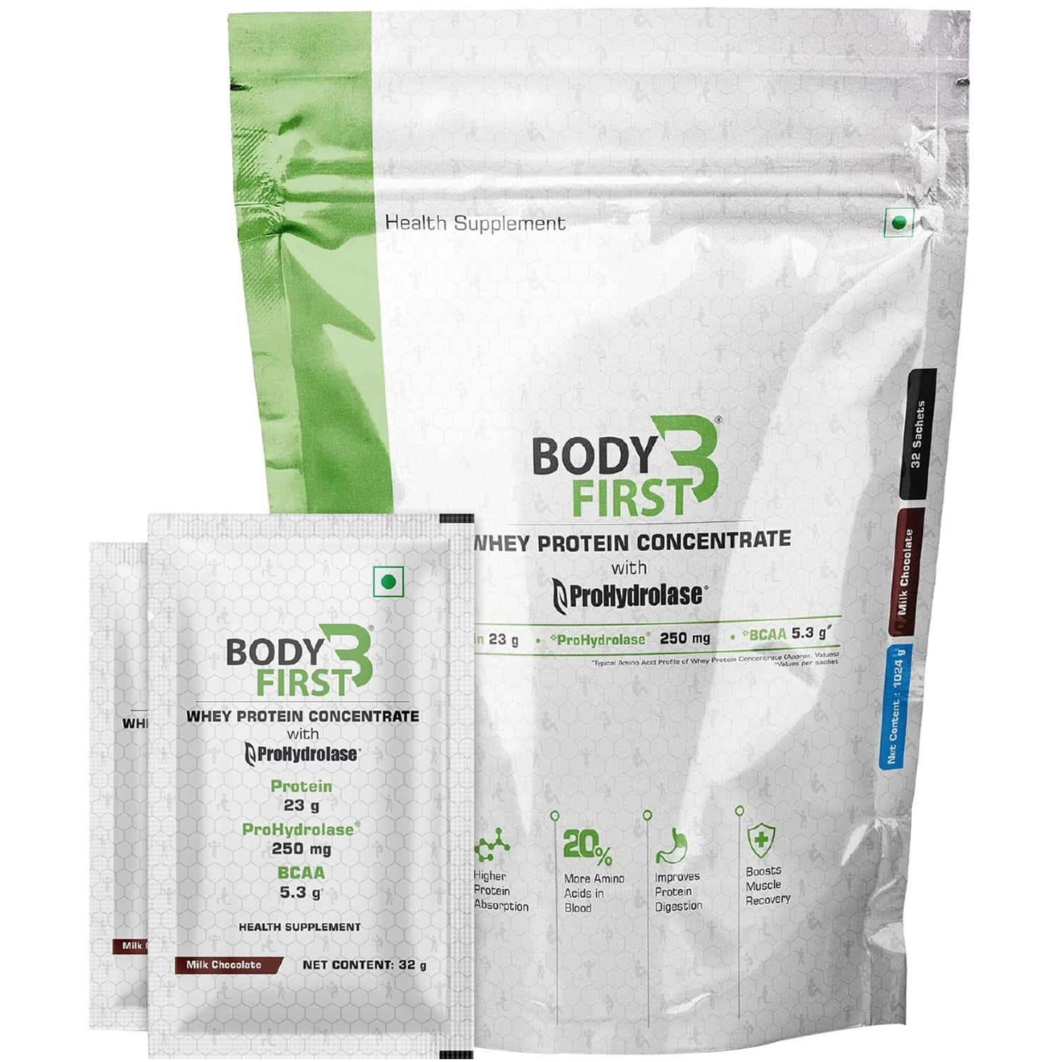 Bodyfirst Whey Protein Concentrate / Hydro With Prohydrolase Milk Chocolate