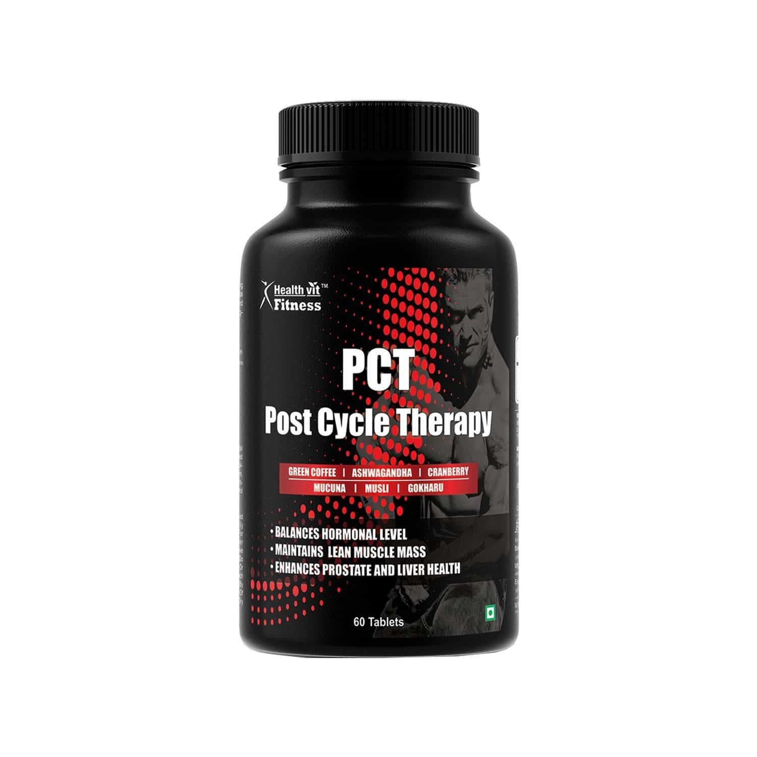 Healthvit Fitness Pct For Kidney Detox, Liver Detox & Testosterone Booster Post Cycle Therapy - 60 Tablets