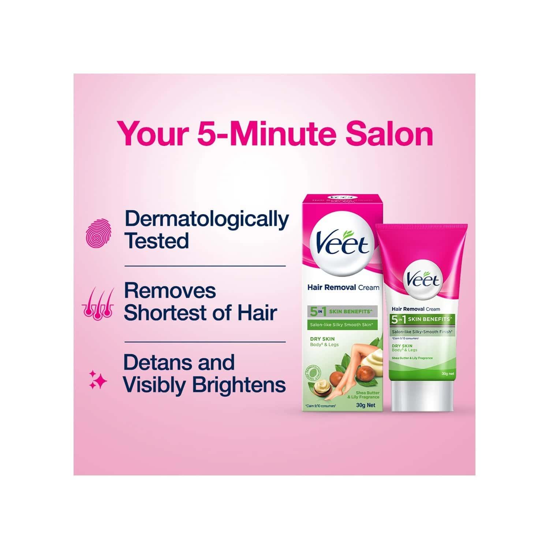 Veet Hair Removal Cream For Dry Skin - 30g