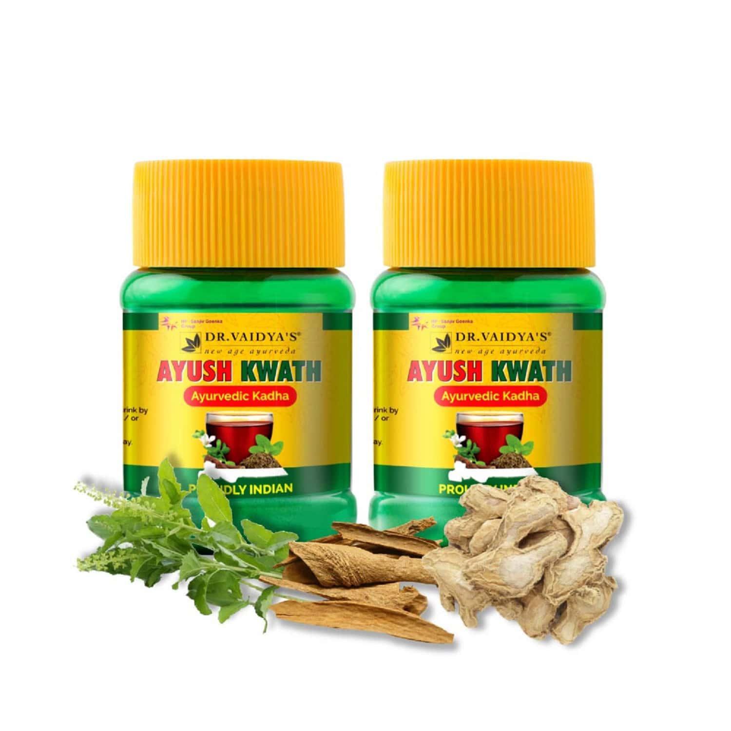 Dr. Vaidya's Ayush Kwath | Ayurvedic Immunity Boosting Kadha Powder | 50 Gms Each (pack Of 2)