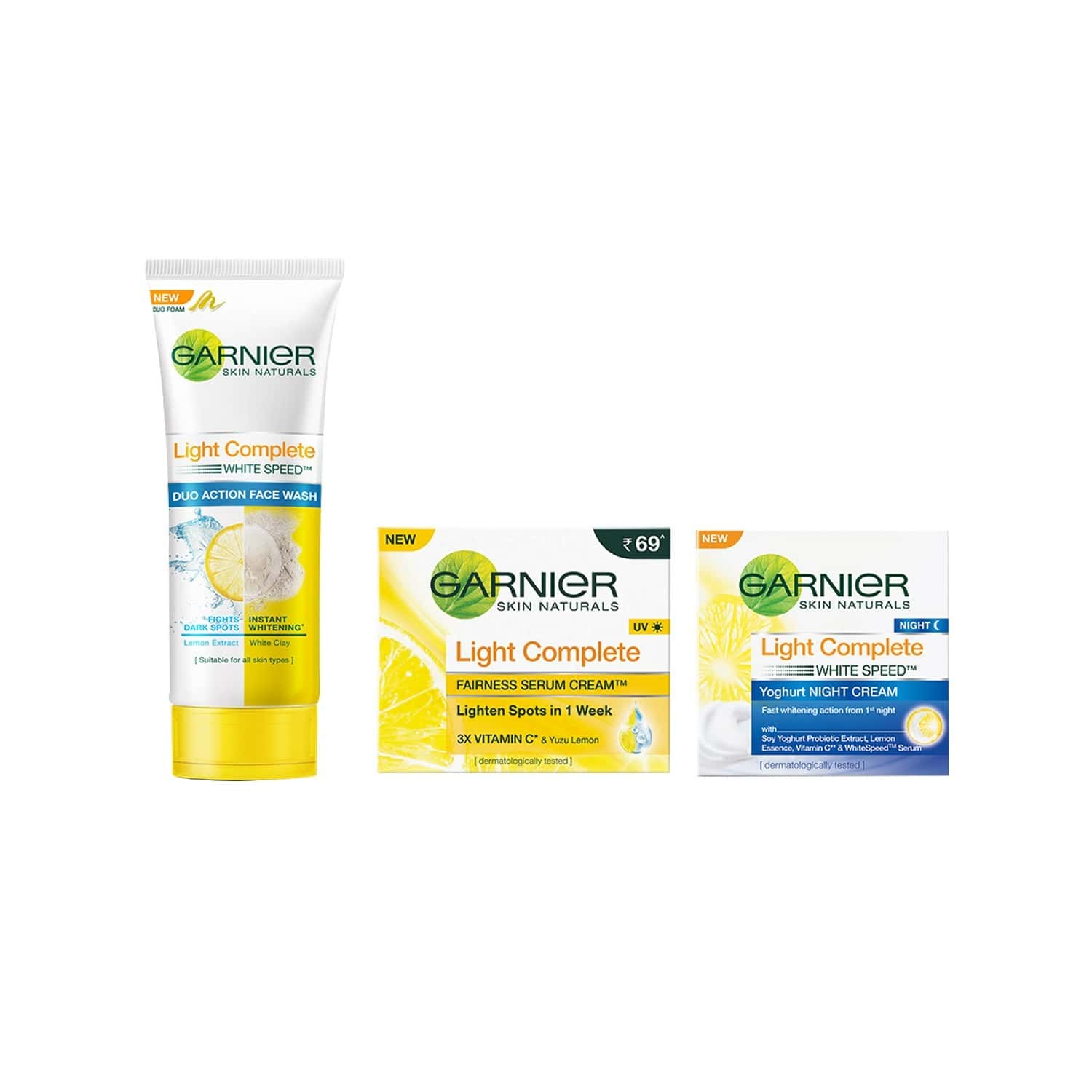 Garnier Skin Naturals Light Complete Duo Action Face Wash Tube Of 100 G