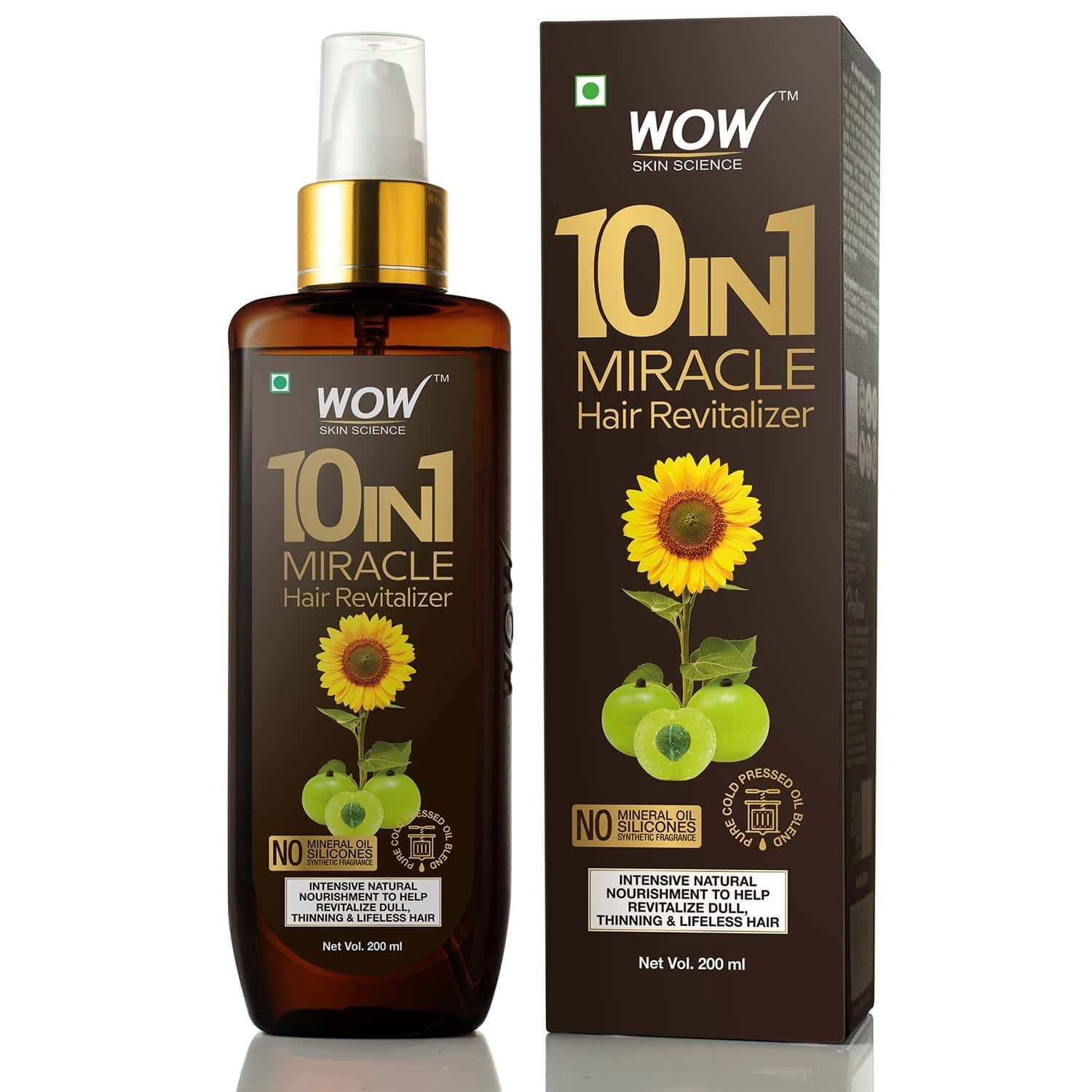 Wow Skin Science 10-in-1 Miracle Hair Oil - 200 Ml