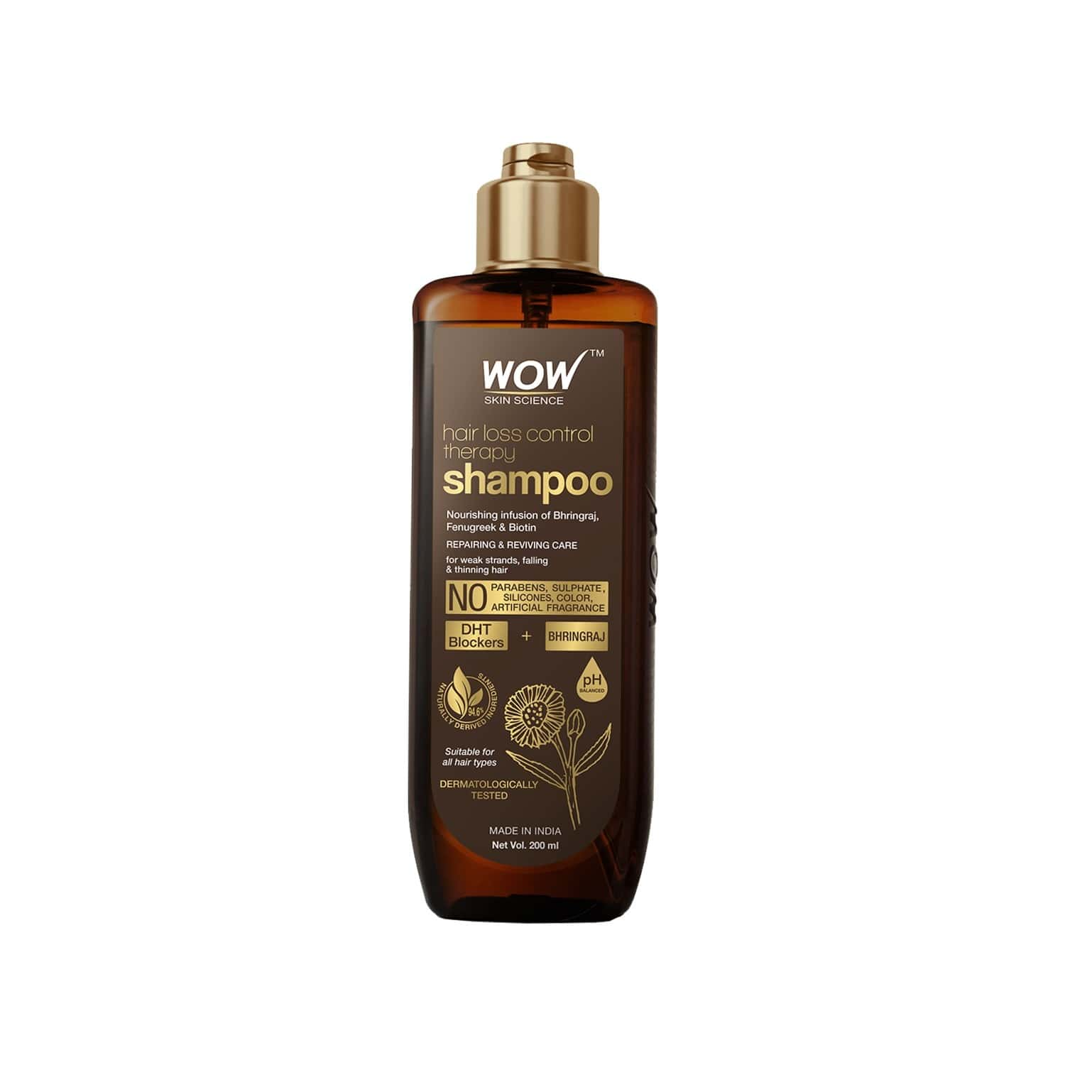 Wow Skin Science Hair Loss Control Therapy Shampoo - 200ml