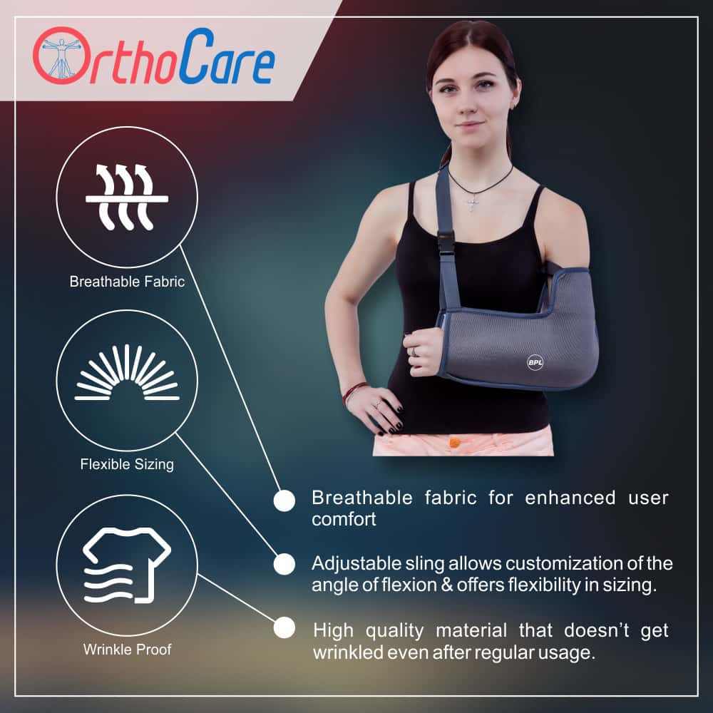 Bpl Orthocare Arm Sling Grey - S - 1pc