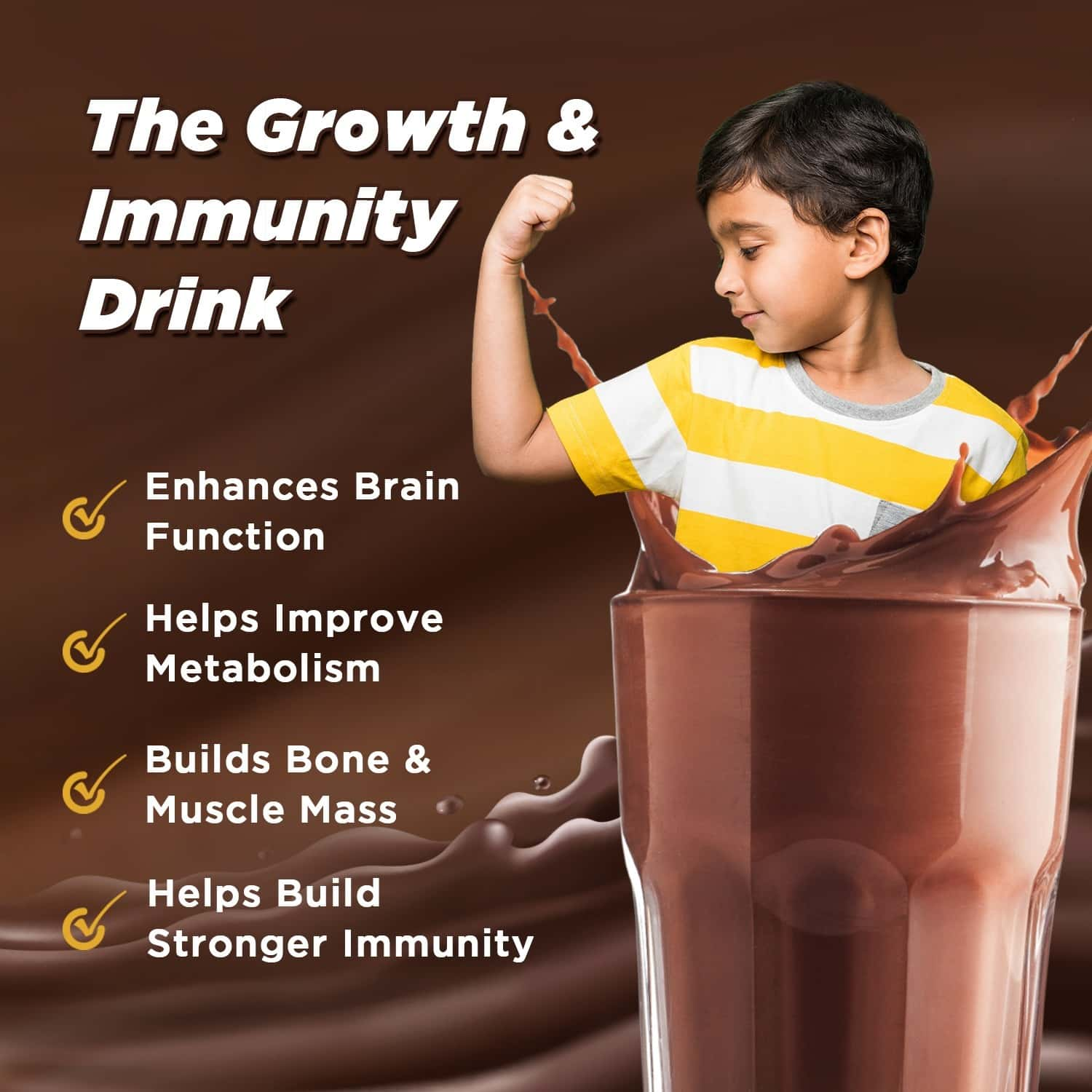Maltwin Nutrition Health Drink For Kids For Growth & Immunity, Chocolate Bourbon - 450 Gm Refill Box