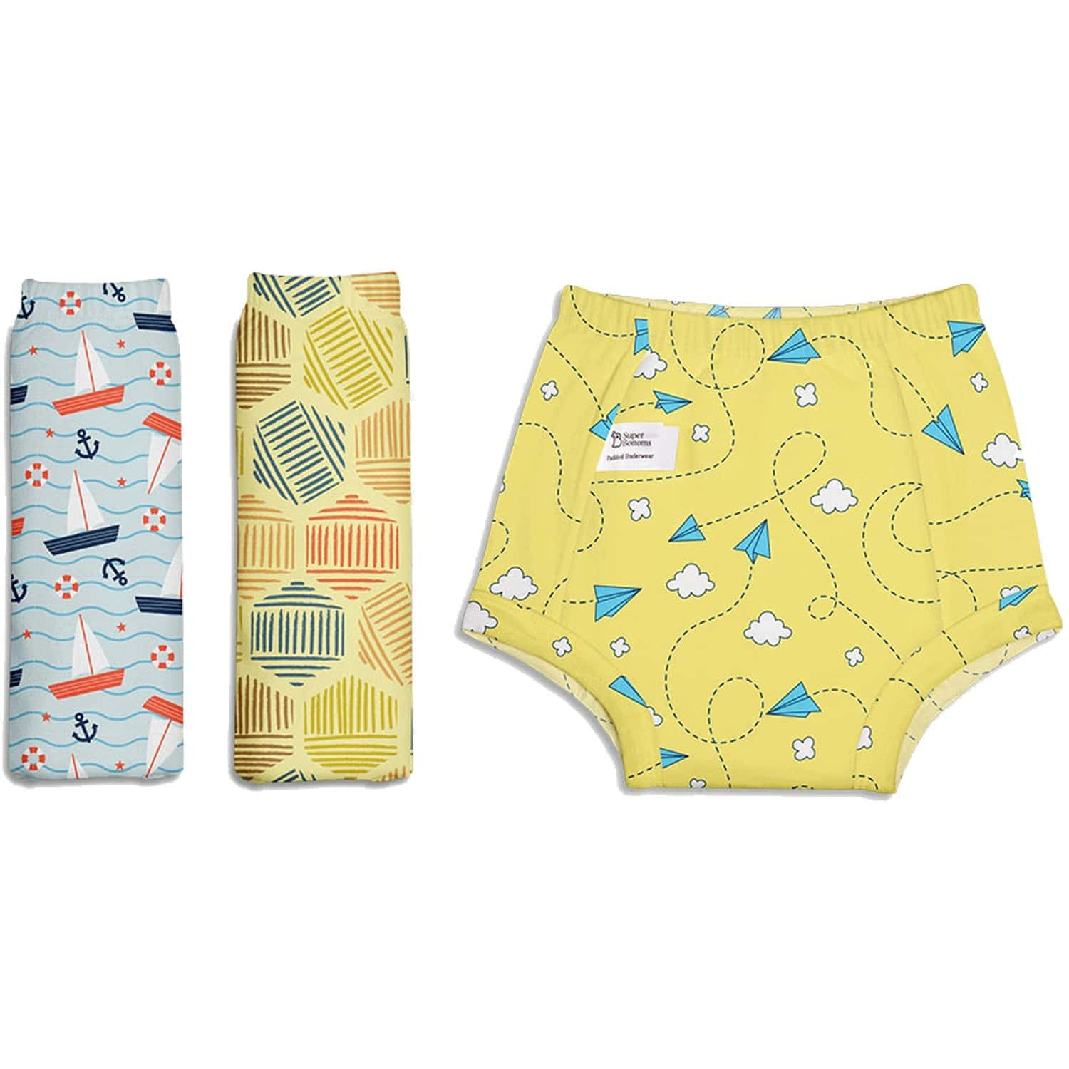 Superbottoms Padded Underwear - Pack Of 3 Potty Training Pants - 100% Cotton - Size 2, Explorer