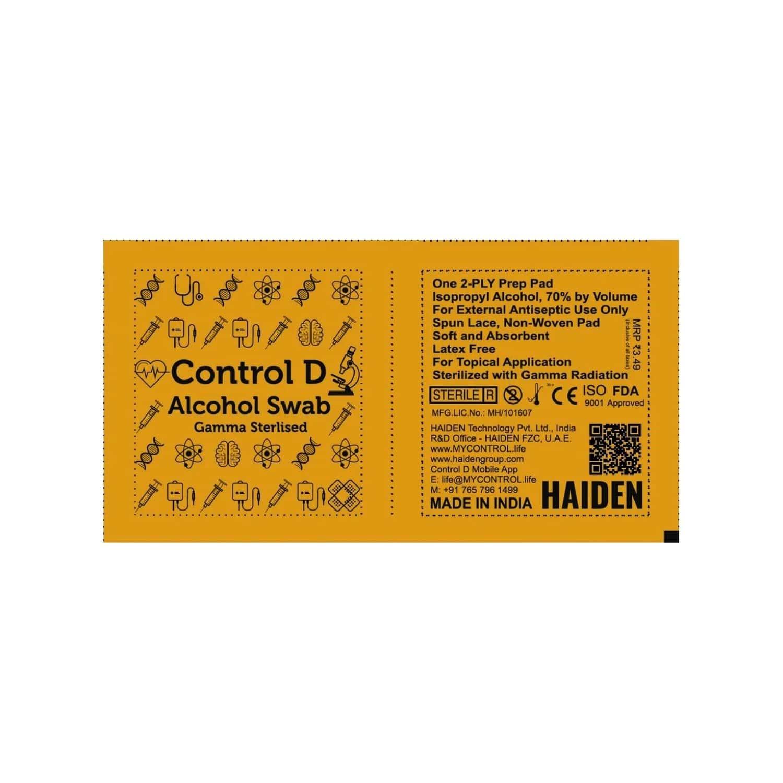Control D Alcohol Swabs - 100