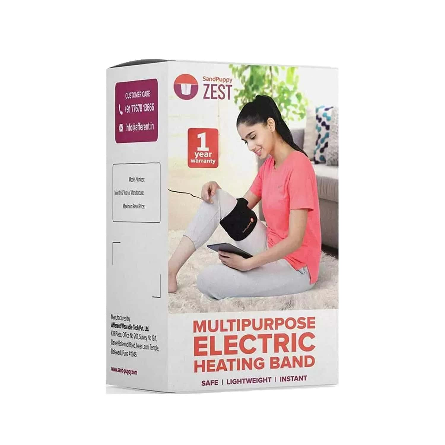 Sandpuppy Zest - New 5 In 1 Heating Pad For Pain Relief | Best For Hands And Legs Knee Elbow And Ankle
