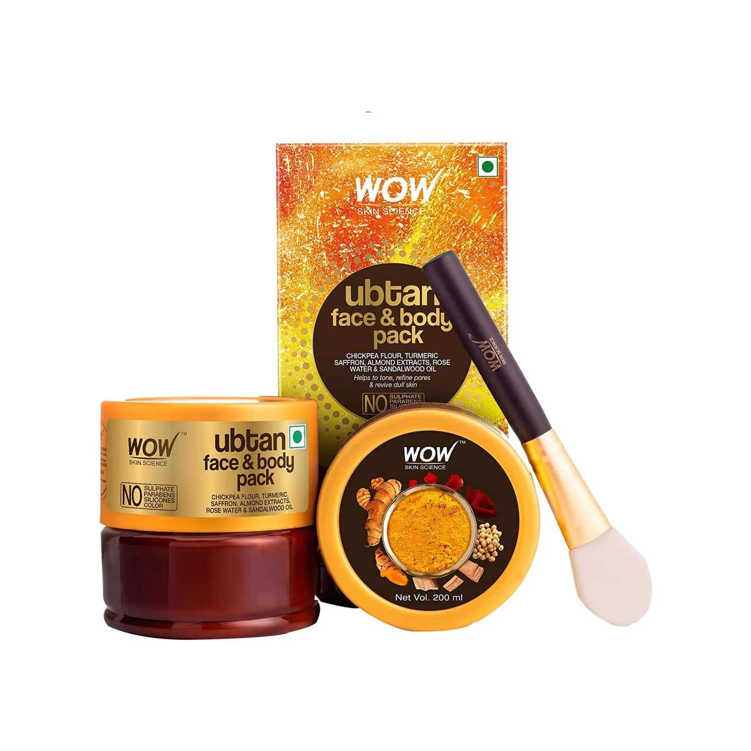 Wow Skin Science Ubtan Face & Body Pack - 200 Ml