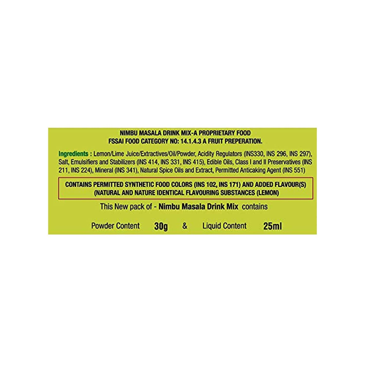Rasna Masala Nimbu Monocarton - Makes 32 Glass X 180ml