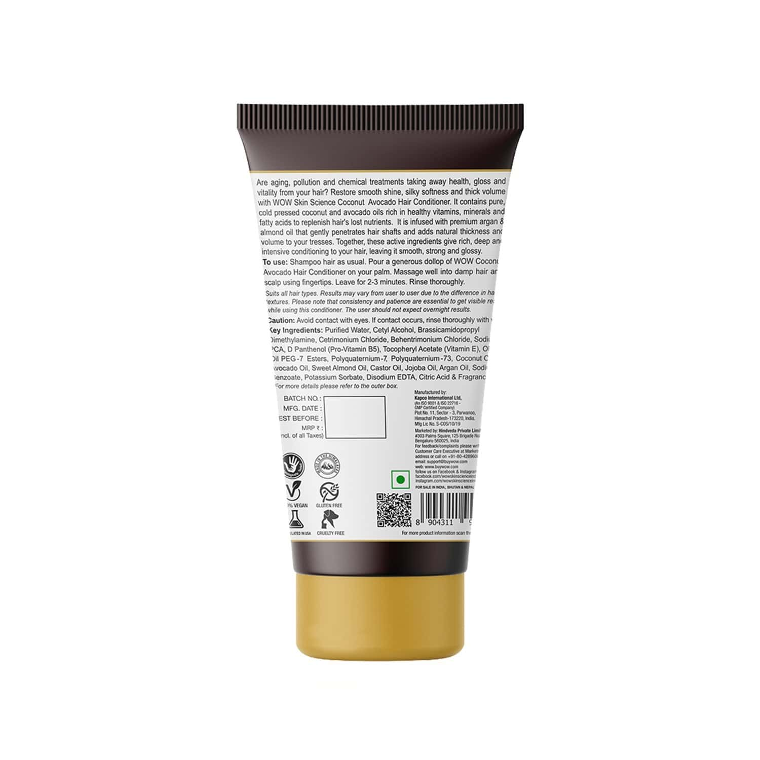 Wow Skin Science  Hair Conditioner  Tube Of 150 Ml